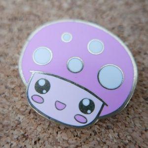 Pink Mushroom Enamel Pin